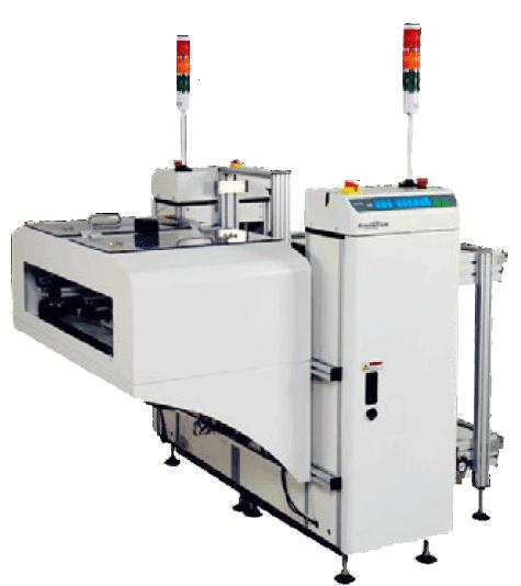 As PCI's transportadas são armazenadas em magazines específicos - NG ou OK.