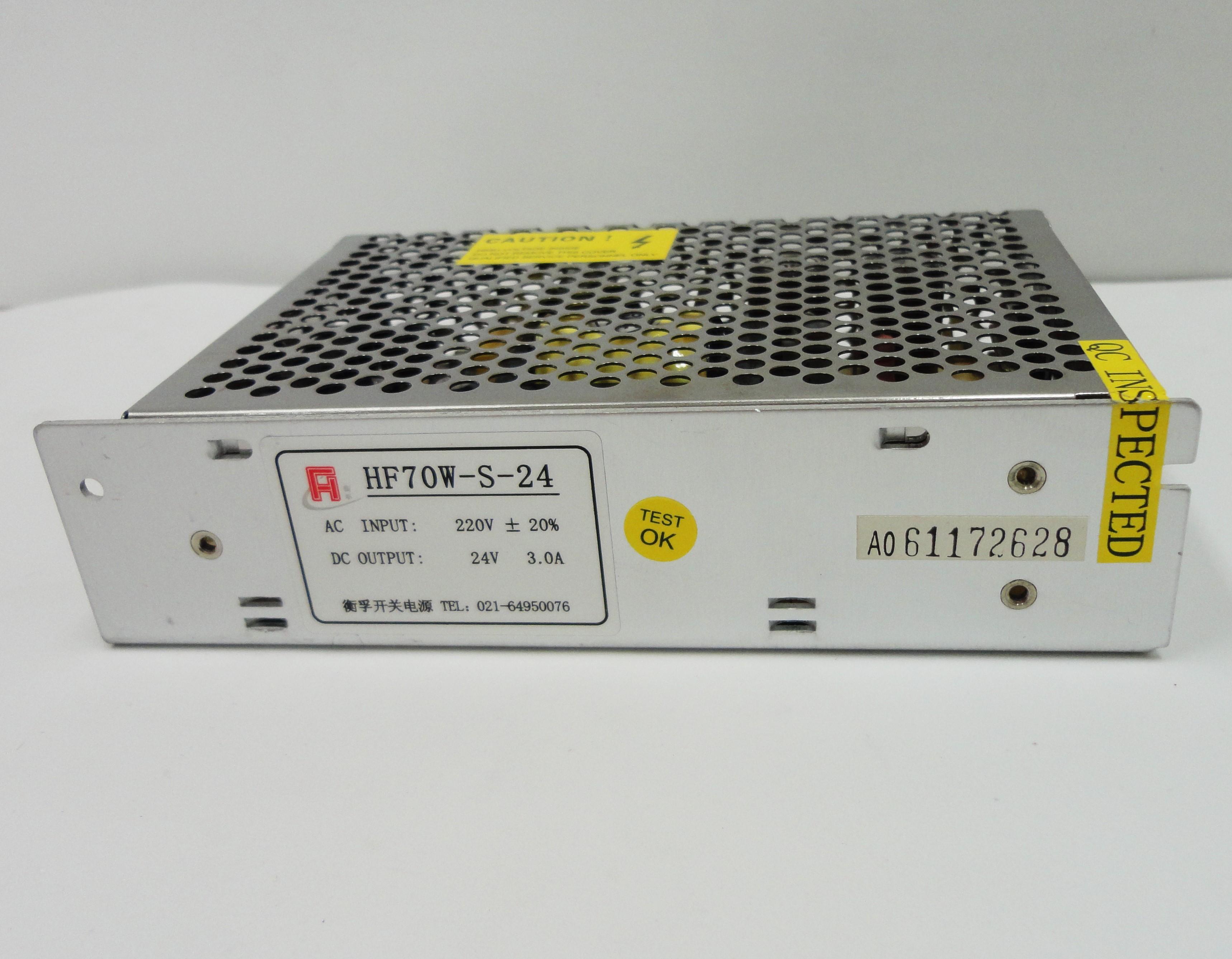 Fonte de Alimentação HF-70W, de 24VDC, 3A, robusta e de baixíssimo ruido