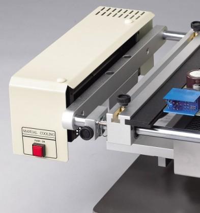 >Sistema de ventilação projetado para resfriar a placa após o reflow