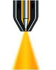 Modo de aplicação em spray, atomização