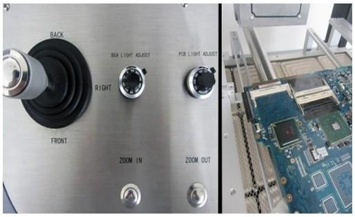 Sistema de ajustes de posicionamento mecânico sofisticado.